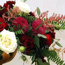 Fragment dekoracji z kwiatów
