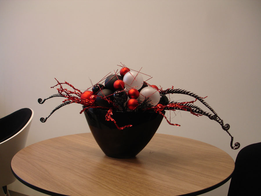Czarno-czerwony stroik