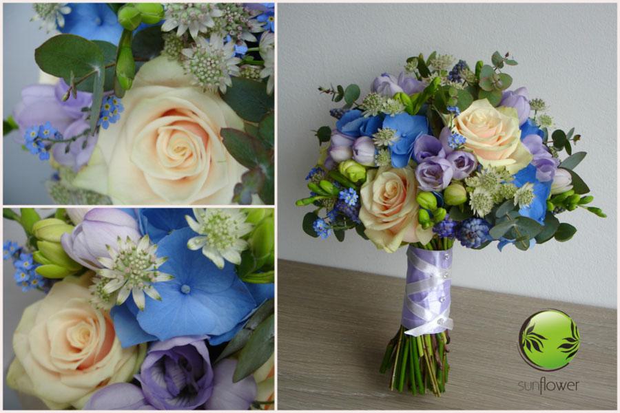 Bukiecik z niebieskimi kwiatami