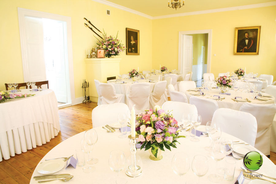 Żółta sala weselna