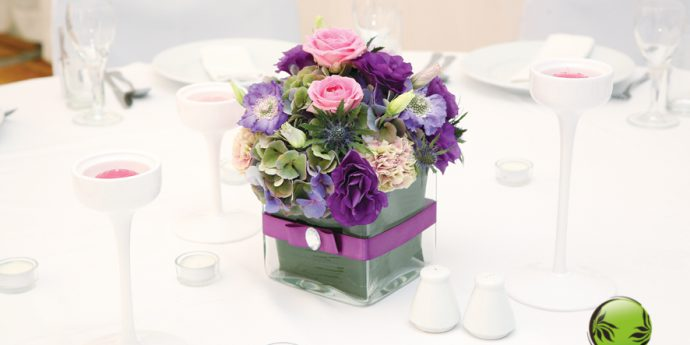Bukiecik z rozmaitymi kwiatkami