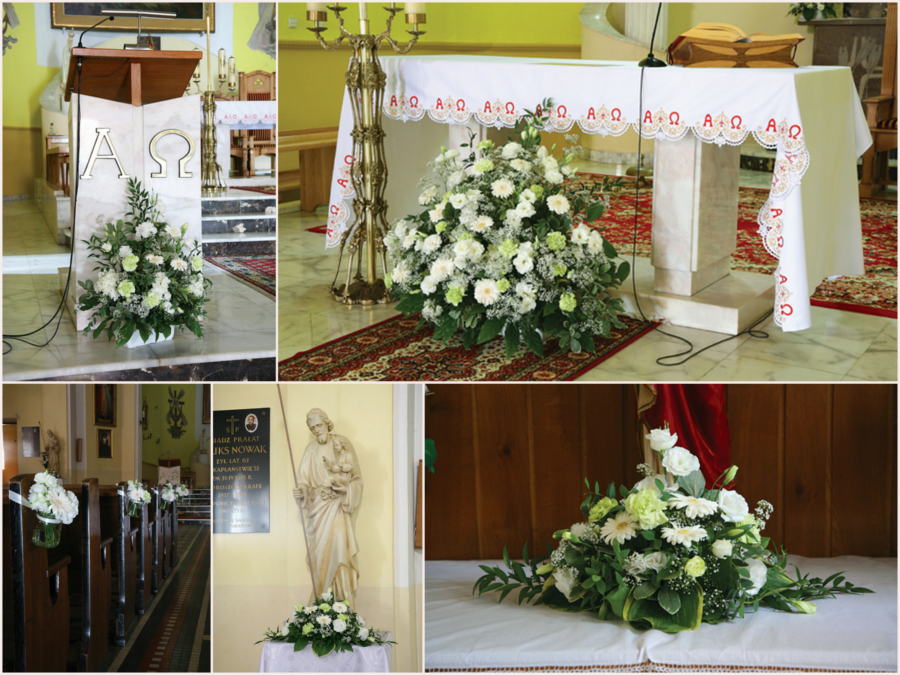 Przystrojenie kościoła na ślub