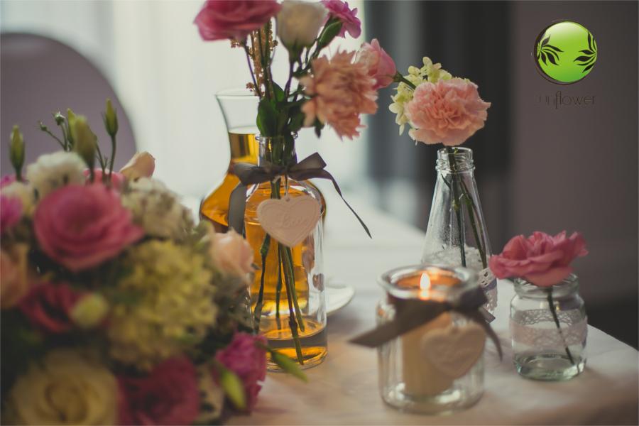 Kwiaty w butelkach