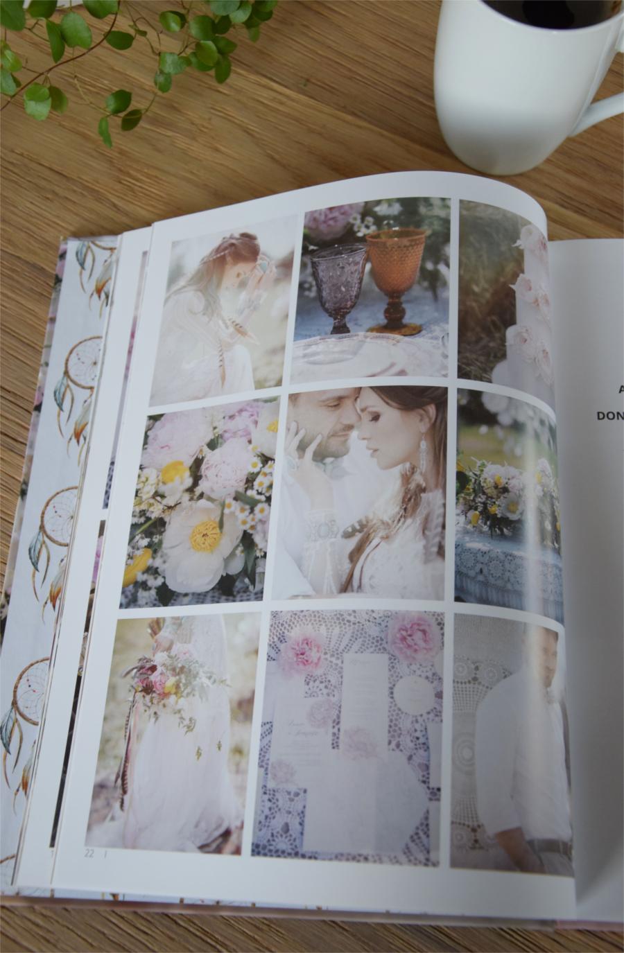 Strona z albumu ślubnego