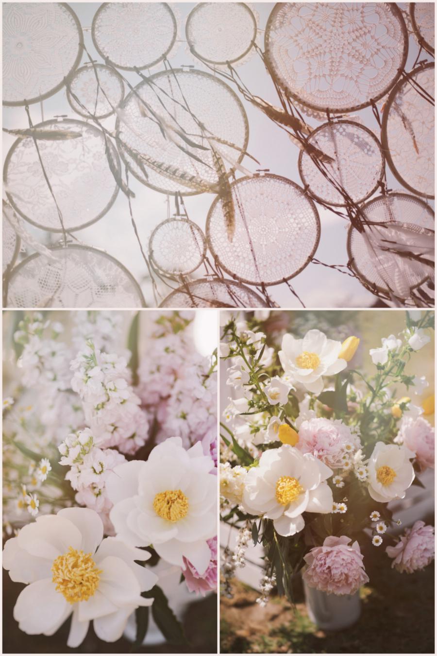 Łapacz snów i kwiaty