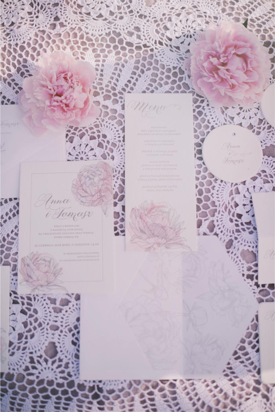 Zaproszenie i karta menu