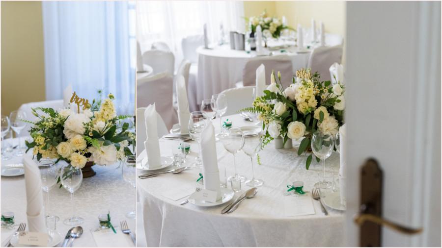 Elementy dekoracyjne stołu weselnego