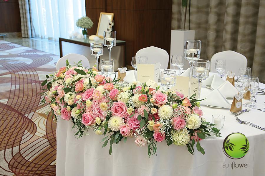 Różowo-biały duży bukiet