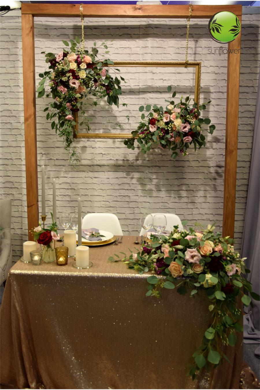 Dekoracje na stół weselny